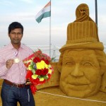 sand art by Sudarshan Pattnaik