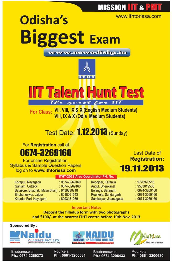 IIT Talent Hunt Test 2013