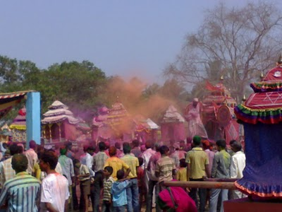 Dola Yatra at Tirimal Khurda Orissa India , the Time for Return Back