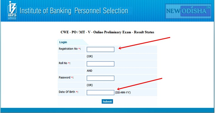 IBPS CWE - PO / MT-V Online Preliminary Exam Results 2015