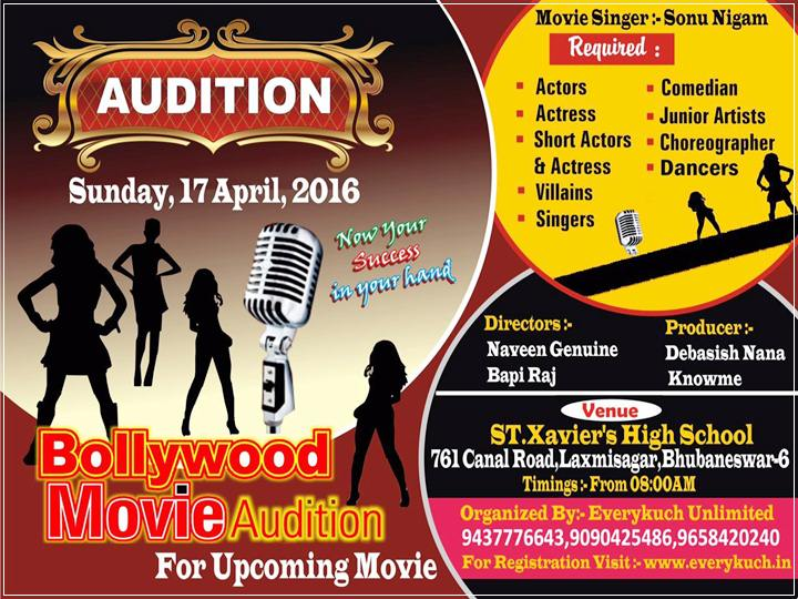 Audition for Actors and Actress for Bollywood Movie Hoshin