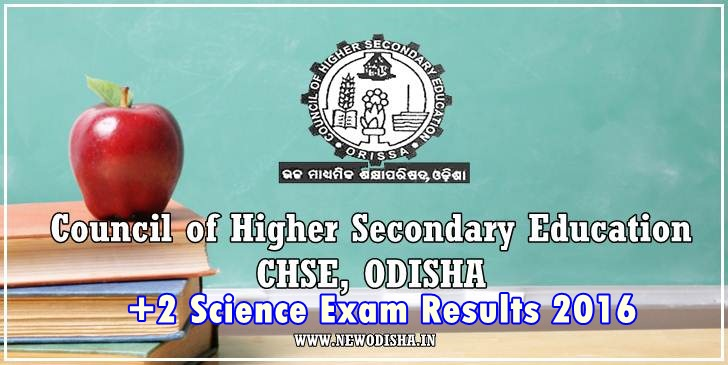 Odisha CHSE +2 Science Annual Exam Results 2016